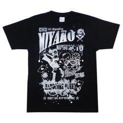 松本都選手Tシャツ1ブラックフロント