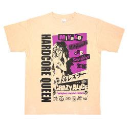 松本都選手Tシャツ2ライトピンクフロント